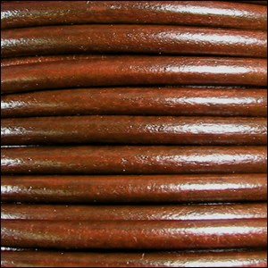 4.5mm round Euro leather TOBACCO - per 20m SPOOL