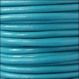 4.5mm round Euro leather BLUE MOON - per 10 feet