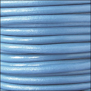 4.5mm round Euro leather BABY BLUE - per 20m SPOOL
