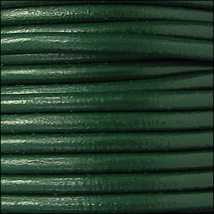 4mm round Euro leather KELLY GREEN - per 10 feet