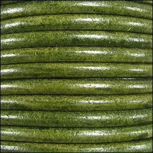 4.5mm round Euro leather DIST GREEN - per 10 feet