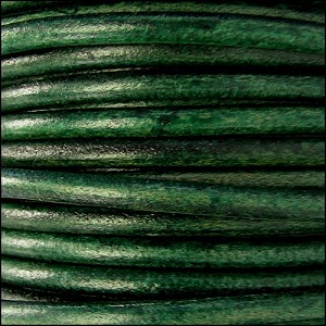 4.5mm round Euro leather FOREST GREEN - per 20m SPOOL