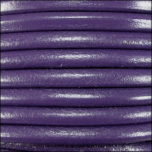 4.5mm round Euro leather PURPLE - per 10 feet