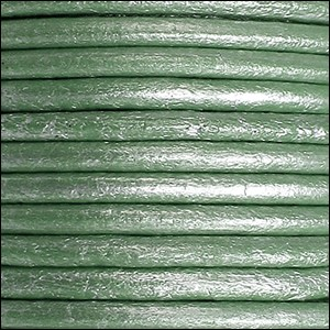 5mm round Euro leather METALLIC TEAL - per 20m SPOOL
