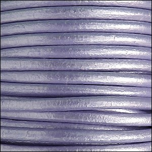 4.5mm round Euro leather METALLIC LILAC - per 10 feet