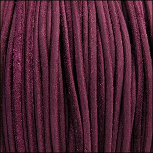 3mm round SUEDE Euro leather VIOLET - per 10 feet