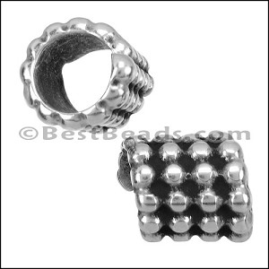 10mm round BALL CHAIN bead ANT SILVER - per 10 pieces