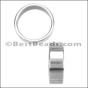 10mm round THIN SLICE spacer ANT SILVER - per 10 pieces