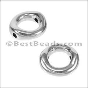 2mm round DONUT bead ANT SILVER - per 10 pieces