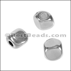 3mm round PEBBLE bead ANT SILVER - per 10 pieces