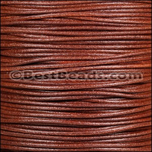 2mm Round Italian Leather WHISKEY - per 20m SPOOL