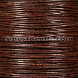 2mm Round Italian Leather MOCHA - per 20m SPOOL