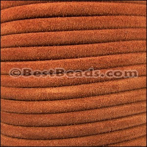 5mm Round SUEDE Leather CAMEL - per 20m SPOOL
