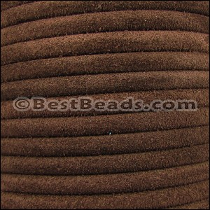 5mm Round SUEDE Leather BROWN - per 20m SPOOL