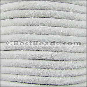5mm Round SUEDE Leather WHITE - per 20m SPOOL