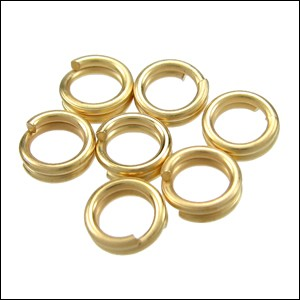SPLIT ring 7mm per ounce MATTE GOLD
