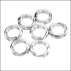 SPLIT ring 5mm per ounce SILVER PLATE