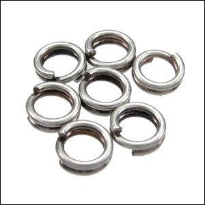 SPLIT ring 5mm per ounce ANTIQUE SILVER
