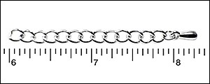 "2"" Extension Chain RHODIUM - per 50 pieces"
