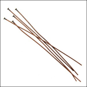 Head Pin 2 inch 24 gauge ANT.COPPER - per 144 pieces