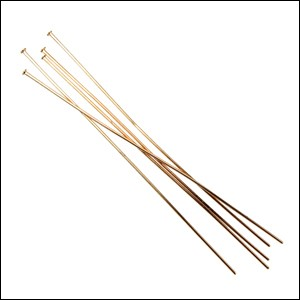 Head Pin 2 inch 24 gauge GOLD - per 144 pieces