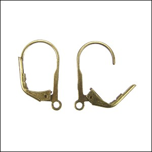 Leverback Earrings ANT BRASS - per 72 pieces