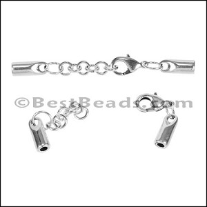 3mm Round SMOOTH ext. clasp ANT SILVER - per 10 pieces