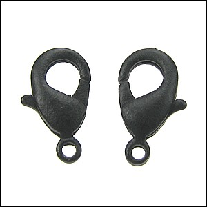 12mm x 7mm Lobster Clasp NITE BLACK - per 100 pieces