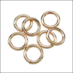 CLOSED jump ring 8mm per ounce GOLD