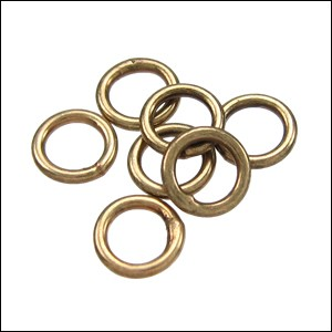 CLOSED jump ring 6mm per ounce ANTIQUE BRASS