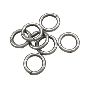 CLOSED jump ring 6mm per ounce ANTIQUE SILVER