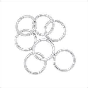 jump ring 12mm per 50pcs SILVER PLATE