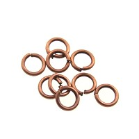 jump ring 4mm per ounce ANTIQUE COPPER