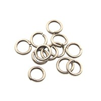 jump ring 4mm per ounce ANTIQUE SILVER