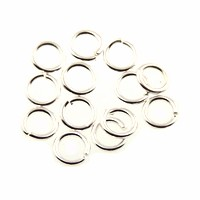 jump ring 4mm per ounce SILVER PLATE