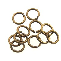 jump ring 10mm per ounce ANT. BRASS