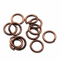 jump ring 6mm per ounce ANTIQUE COPPER