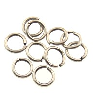 jump ring 8mm per ounce ANT. SILVER