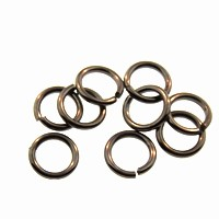 jump ring 8mm per ounce GUNMETAL