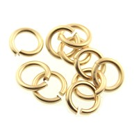 jump ring 8mm per ounce MATTE GOLD