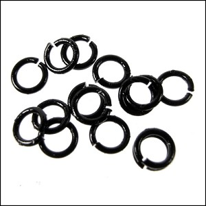 jump ring 4mm per ounce NIGHT BLACK SHINY