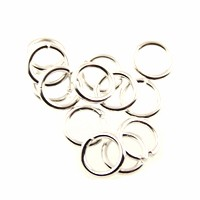 jump ring 8mm per ounce SILVER PLATE