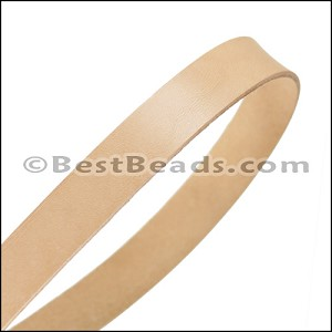 15mm flat leather NATURAL - approx. 3 feet