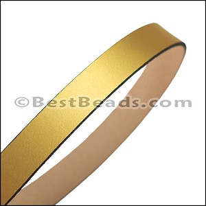 15mm flat leather GOLD - approx. 3 feet