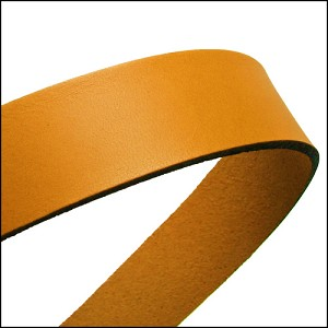 20mm flat leather MUSTARD YELLOW - approx. 3 feet