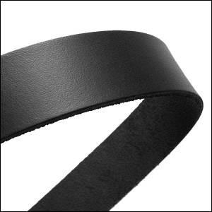 30mm STRIP flat leather  BLACK - approx. 3 feet