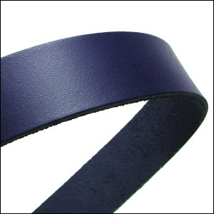 20mm flat leather NAVY - approx. 3 feet