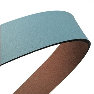 20mm flat leather PASTEL BLUE/TURQUOISE - approx. 3 feet