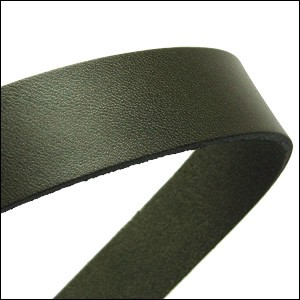 20mm flat leather HUNTER GREEN- approx. 3 feet