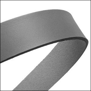 20mm flat leather GREY - approx. 3 feet